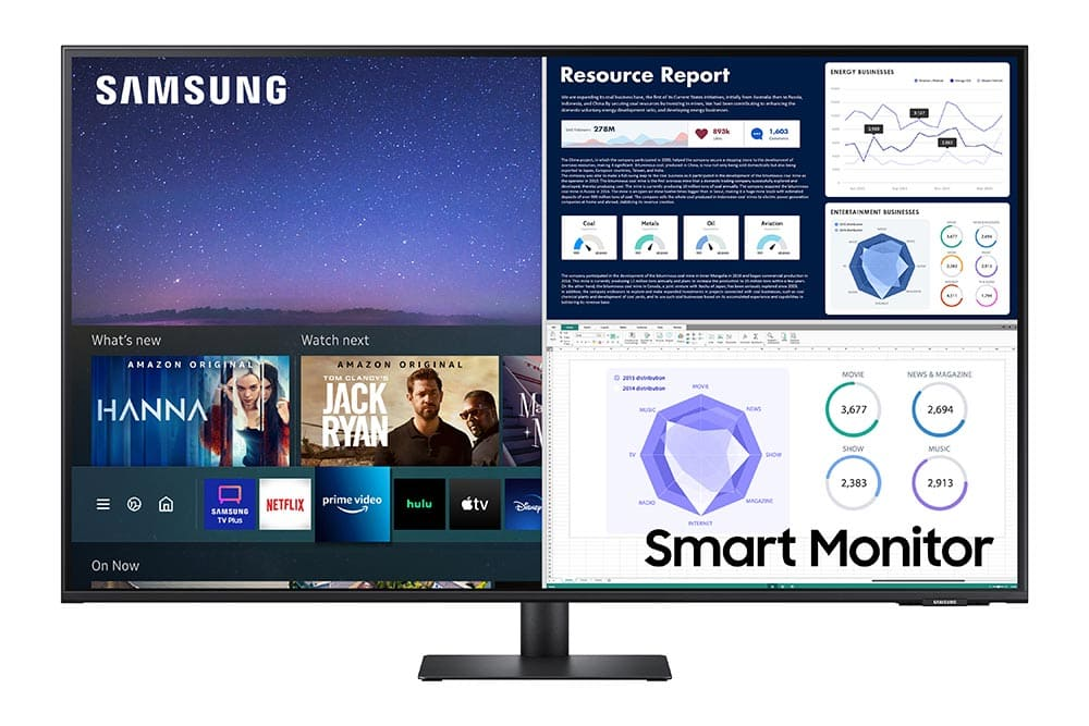 """43"""" Samsung flat monitor M70A series Front2"""