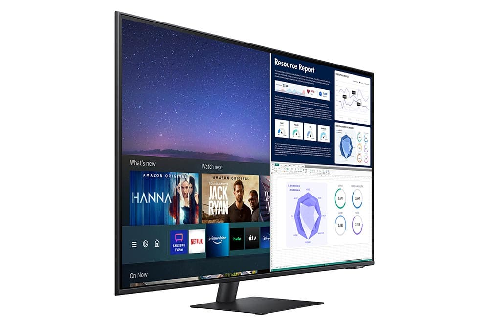 """43"""" Samsung flat monitor M70A series L-Perspective2_Black"""
