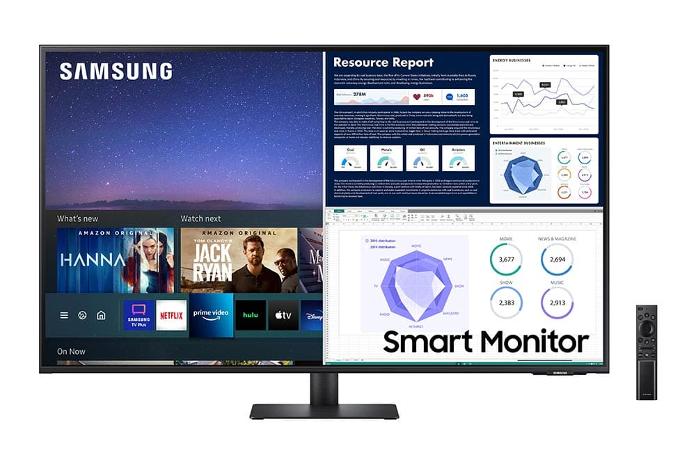 """43"""" Samsung flat monitor M70A series Front3_Black"""