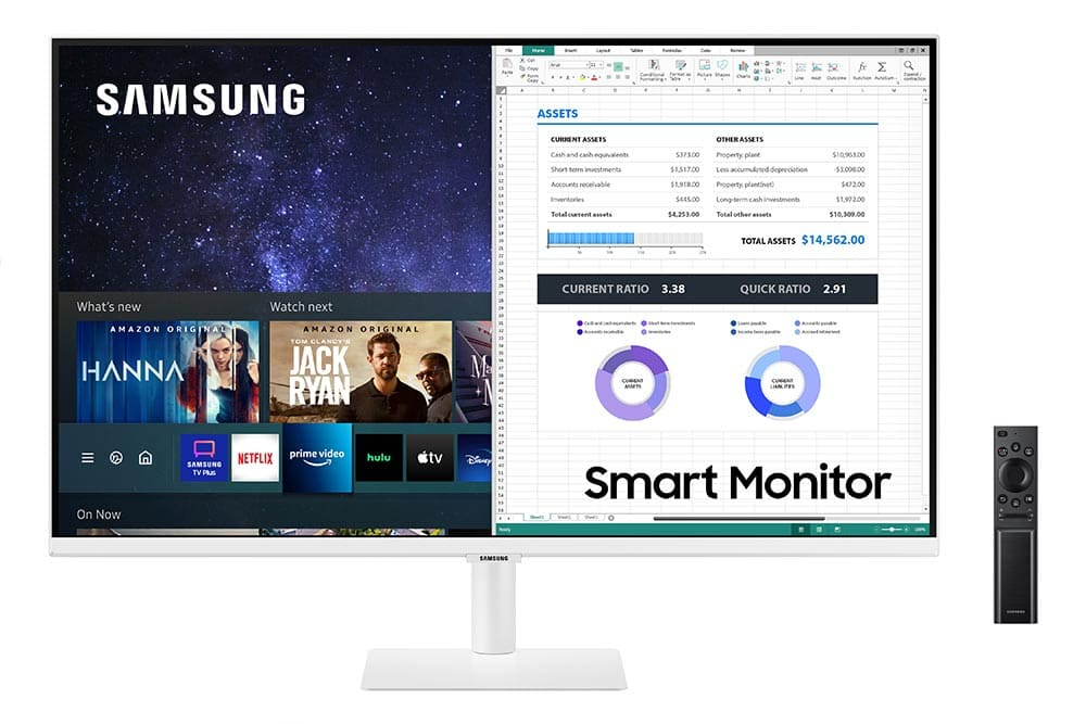 """32"""" Samsung flat monitor M50A White series Front-03"""