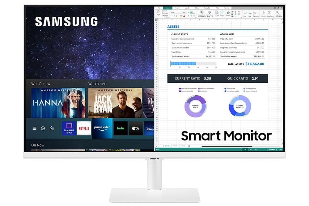 """27"""" Samsung flat monitor M50A White series Front-02"""
