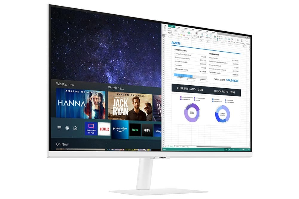"""27"""" Samsung flat monitor M50A White series L-Perspective"""