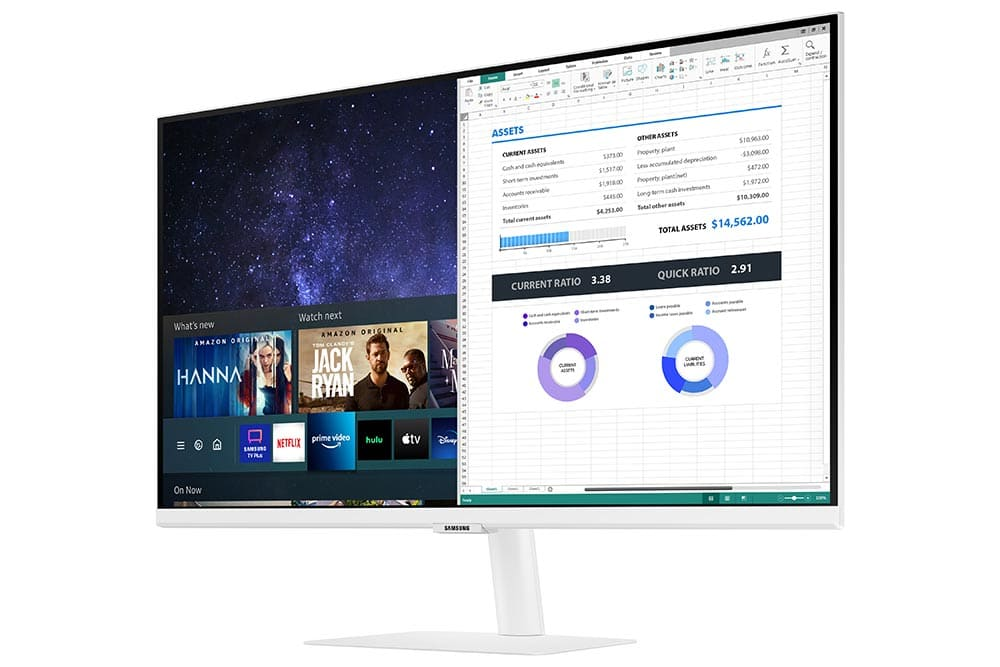 """27"""" Samsung flat monitor M50A White series R-Perspective"""