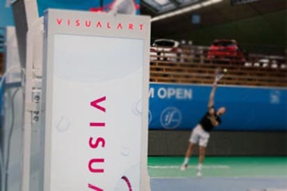 Samsung with visual art : Digital umpire chair