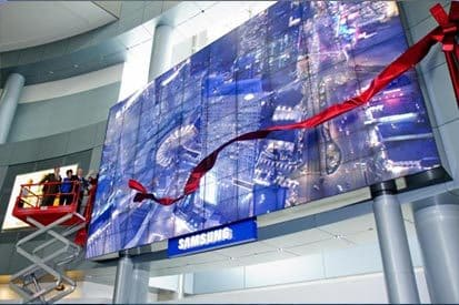 Samsung digital signage airport case study - McCarran Airport: The world's largest video display wall