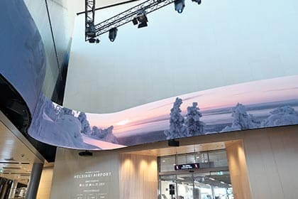 Samsung digital signage airport case study - Finavia airport (Helsinki Airport)