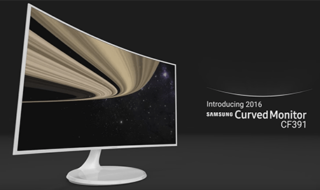 Samsung Curved Monitor CF391 : Feature video