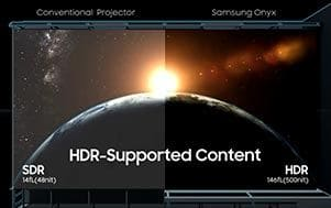 Samsung Onyx : What's difference with traditional cinema