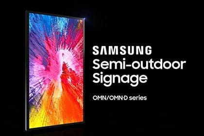 Samsung Semi-outdoor Signage: Brilliance by Design