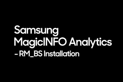 MagicINFO Analytics: Rule Manager, Behavior Sensing Installation