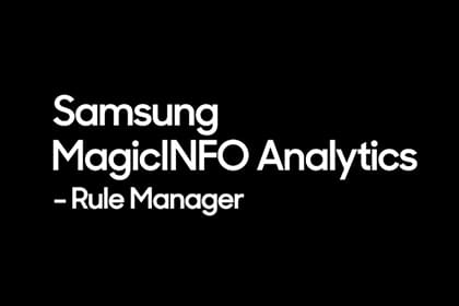 MagicINFO Analytics: Rule Manager