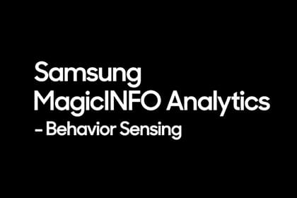 MagicINFO Analytics: Behavior Sensing