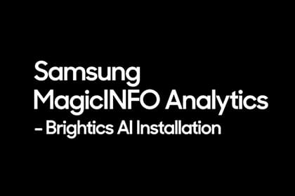 MagicINFO Analytics: Brightics AI Installation