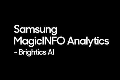 MagicINFO Analytics: Brightics AI