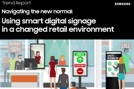 Using smart digital signage in a changed retail environment