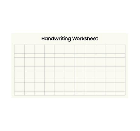 [Flip] Handwriting worksheet: Chinese, Korean letter - Landscape