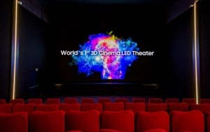 Samsung debuts world's first 3D cinema LED screen theater in Switzerland