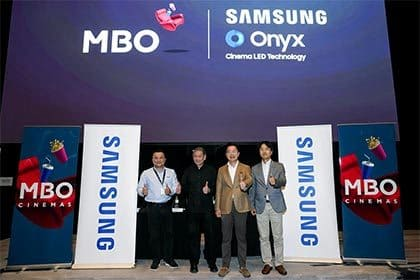 MBO Cinemas introduces Samsung Onyx Cinema LED screen at new outlet in ATRIA shopping gallery
