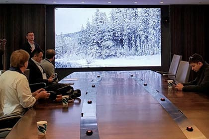 Samsung's microLED The Wall Finds Way Into NYC Boardroom