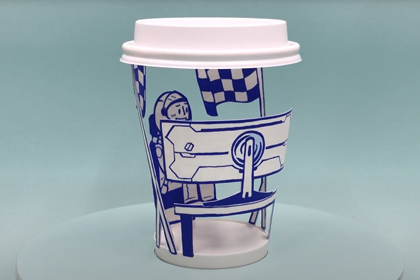 [Video] A Paper Cup Masterpiece, Inspired by the Odyssey G9 & G7