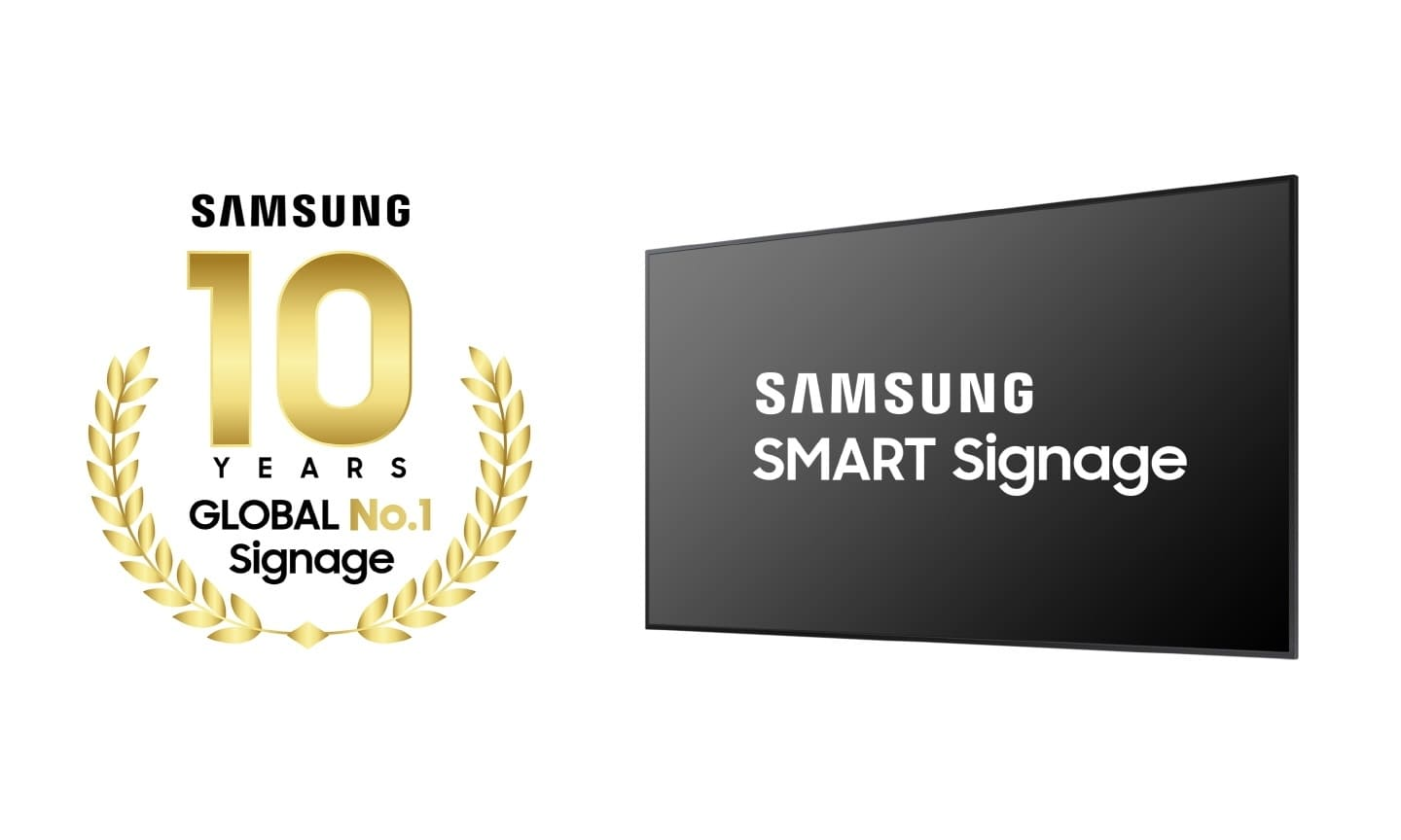 Samsung 10 years No.1 in Digital Signage_1