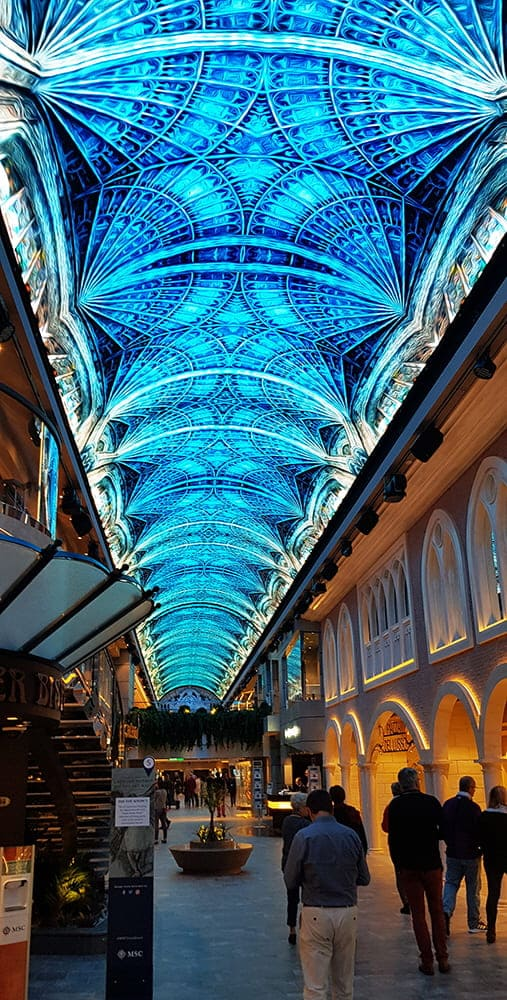 Samsung and MSC Cruises Win Top Prize For Industry-Leading Indoor LED Project